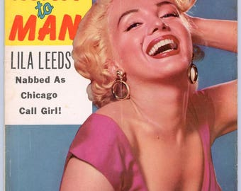 Man to Man Magazine  1956  Marilyn Monroe Cover  Are Negroes Taking Over Baseball Stripper Jennie Lee  How I Killed a Rapist Bedroom Sinners