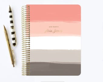 2018 - 2019 Planner   Personalized Planner   2018   Student Planner   Professional Planner   Agenda   Notebook   Ombre Planner