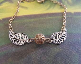 Delicate Golden Snitch Bracelet