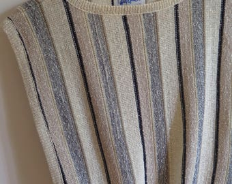 Vintage striped sleeveless sweater