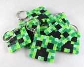 Minecraft Creeper Keychain or Magnet | Perler Beads