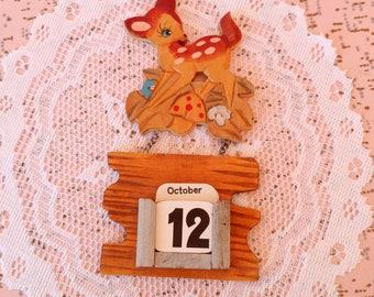 Vintage bambi perpetual calendar