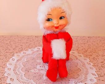 Vintage tall Christmas knee hugger elve