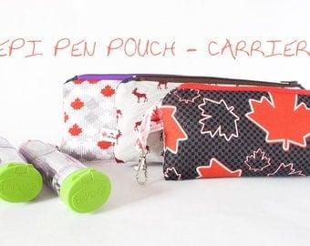 EPIPEN Case.EpiPen Carrier.CANADA Bag.Medicine Pouch.Allergy Bag.Kid Allergy Bag.INSULATED Medical Allergy Pouch.Canada Gift.Cute EpiPen Bag