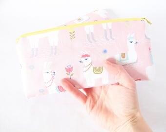 Llama Pouch. Alpaca Pouch. Cute Llama Pouch. Pencil Pouch. Pink Pouch. Llama Pencil Case. Llama Lover.Bachelorette Gift Bag.Cute Friend Gift