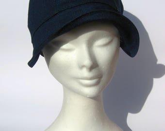 women vintage style cap, newsboy bakerboy cap, hat women,blujeans cotton, 30th style