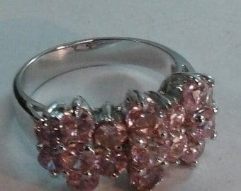 Pink Topaz Sterling Silver 925 size 6