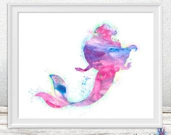 Little Mermaid Wall art -Ariel art - Little Mermaid- Disney prints