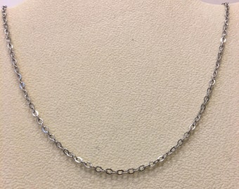 18'' 45cm  2.5mm silver/ gold/ rose gold/black 316 Stainless Steel Cable Chain Pendant Necklace