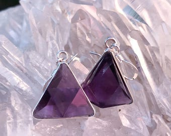 Amethyst Vogel - Marcel Vogel Earrings- set in Sterling Silver - A Grade !  Powerful