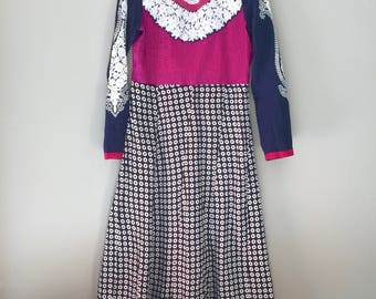 Mexican Embroidered Dress Indian Small Medium