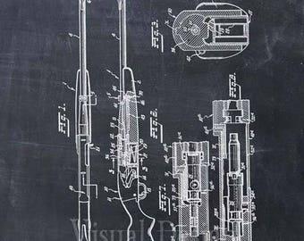 AR-10 Rifle Patent Print - Patent Art Print - Patent Poster - Gun - Firearm - Weapon