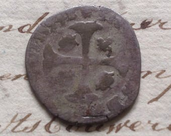 1594 - King Henri IV of France (1589 - 1610 ) - Douzain aux 2 H - Made in kingdom of France - numismatic collectors item - Antique Coin