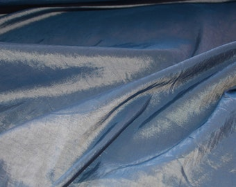 "JN010521 Sale Item  Turquoise Gold Two Tone Taffeta Lightweight Quality Soft Silky Shine  Drape Fashion Home Decor 58/60""Fabric By  Yard"