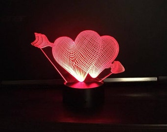 Light Up Double Heart