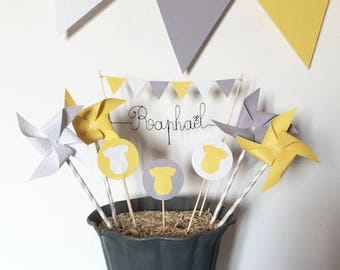 Cake Toppers Decoration name windmill Bodysuit