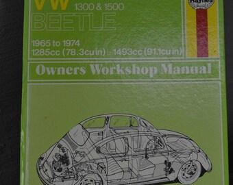 VW Beetle Owners Workshop Manuals