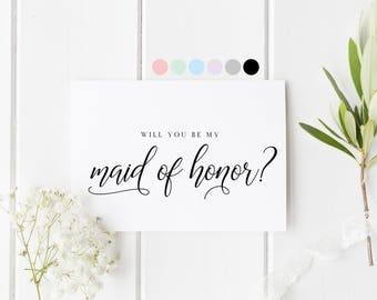 Will You Be My Maid Of Honor, Card For Maid Of Honor, Maid Of Honor Proposal Card, Maid Of Honor Request Card, Be My Maid Of Honor Card