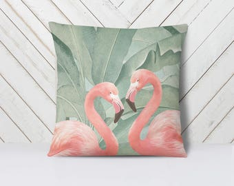 Flamingo Love Pillow Cover
