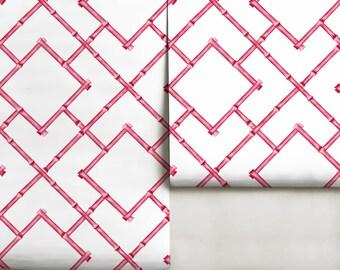 Pink Bamboo Trellis Repositionable Peel N Stick Wallpaper
