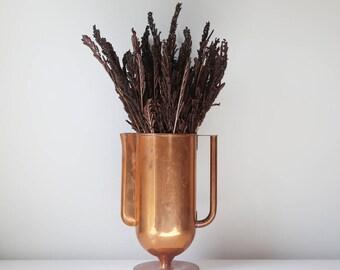 Copper pitcher antique metal pitcher or vase