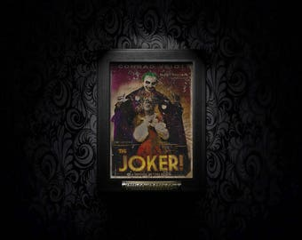 The Joker! A4 Vintage Style Movie Poster Print cult classic Harley Quinn suicide squad batman art fanart alternate reality neverwere retro