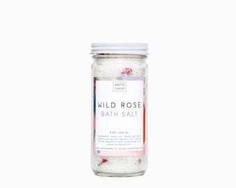Wild Rose Bath Salt - dead sea salt, rosewood, rose absolute