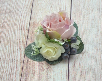 Flower hair clip Bridal hair clip Girl hair piece Rustic wedding hair accessories Gift/for/mom Bridesmaid hair Flower girl hair Rustic style