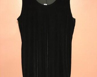 Katrina Dress- black velvet mini dress