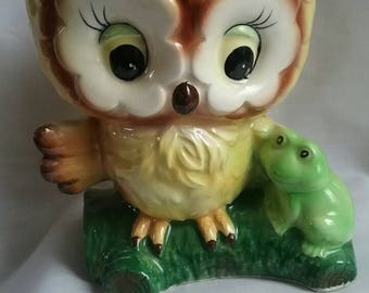 Fabulous Vintage Owl Planter, Lark, Japan