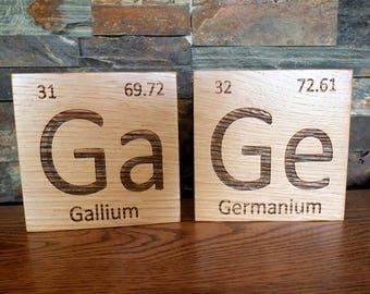 Wooden Periodic Table Element Tiles in White Oak Wood. Periodic Table-Wooden Tiles-Chemistry-Science-Graduation Gift-Teacher Gift-Professor