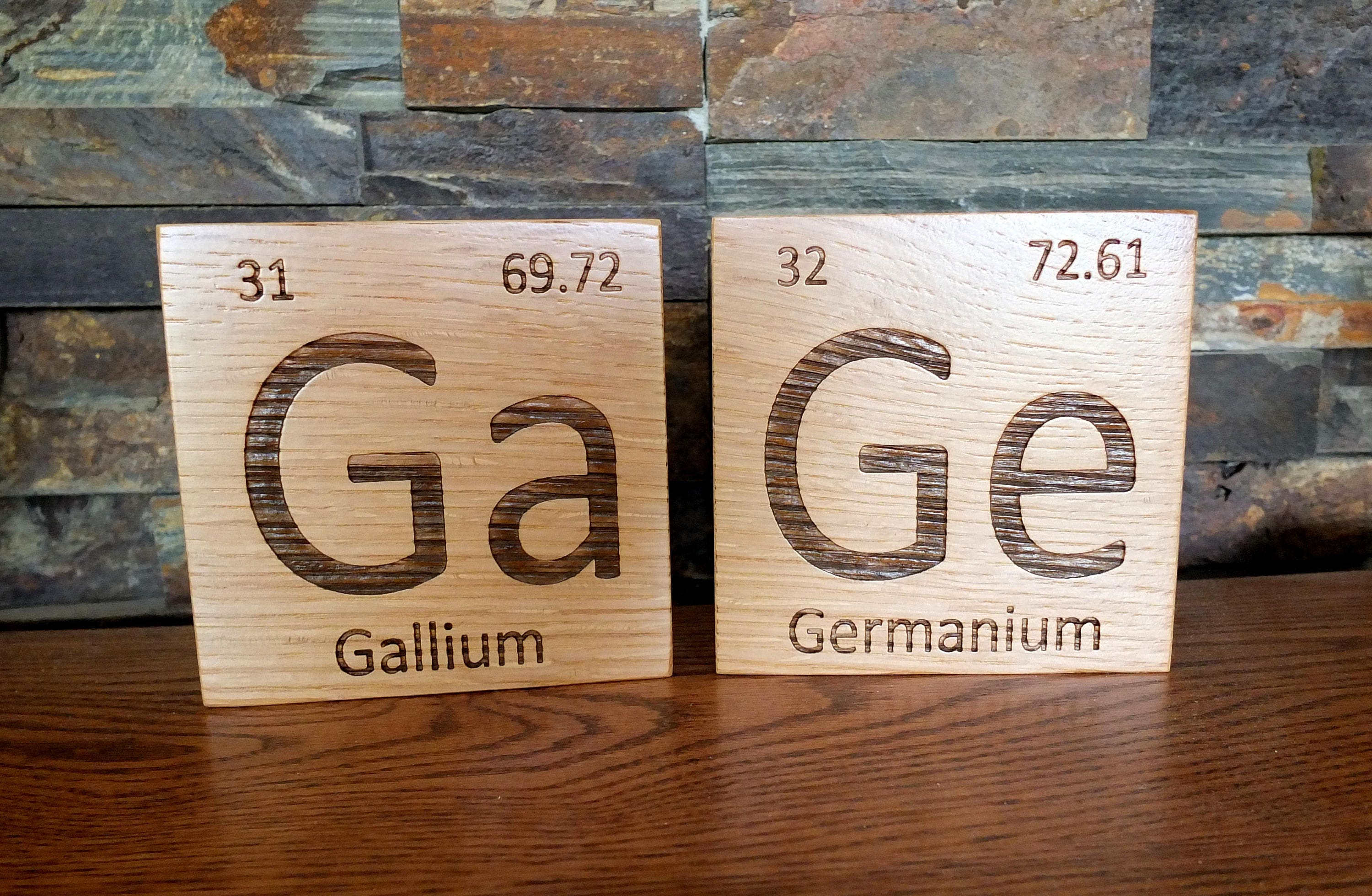 Wooden periodic table element tiles in white oak wood periodic wooden periodic table element tiles in white oak wood periodic table wooden tiles chemistry science graduation gift teacher gift professor urtaz Choice Image