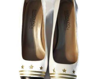 bandolino shoes italy - bandolino pumps - bandolino heel - stars shoes women - italian shoemaker shoes - italian shoes - vintage shoes -