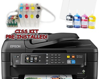 Epson WF-2760 Sublimation Printer Bundle with CISS Kit, Sublimation Ink & Paper