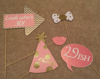 Pink and Gold Photo Props