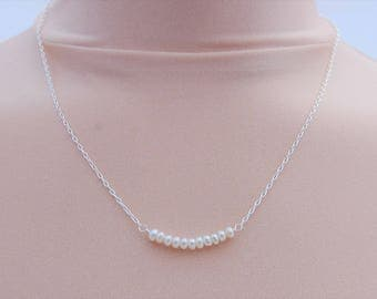 Freshwater Bar Sterling Silver Necklace
