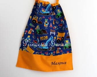 Back to school * napkin canteen with elastic at the neck - cotton construction - custom