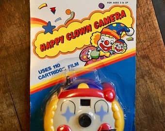 Happy Clown Camera - Vintage, Sealed, Funky 110 Camera