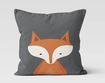 Fox Kids Throw Pillow - Decorative Pillow - Home Decor  - Pillow Case