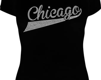 Chicago Rhinestone Tee (S-2XL)