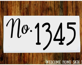 House Number Vinyl Decal, House Number Stickers, Front Door Decal, Mailbox Decal