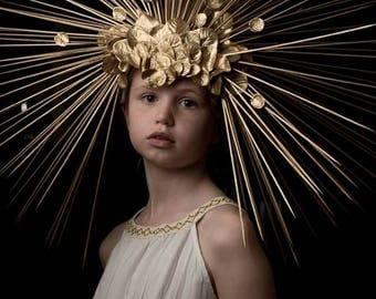 Giant Sunburst Headpiece headdress Egyptian Aztec