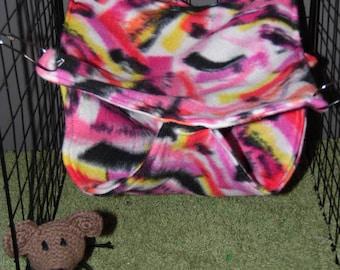 Ferret or Rat Colorful Fleece Honeycomb Tier Hammock