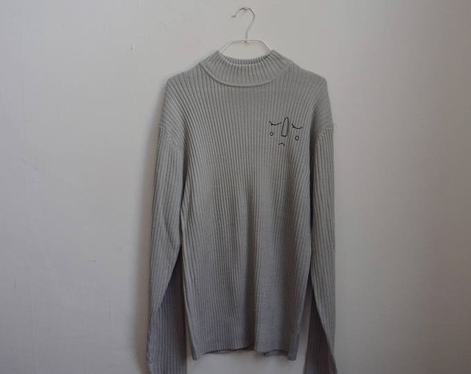 Maude Ash Grey Ribbed Turtleneck Sweater.