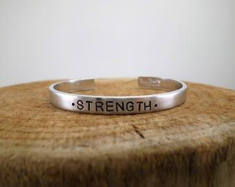 Strength - Hand-Stamped Bangle