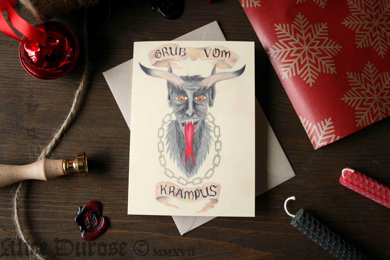 Krampus a6 greeting card gruss vom krampus krampuskarten krampus a6 greeting card gruss vom krampus krampuskarten krampusnacht alternative christmas card german demon m4hsunfo