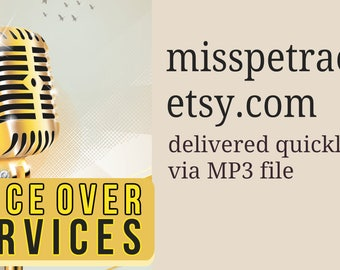 Voice Over delivery via MP3, for phone greeting, directory listings, promotional videos, fast delivery