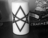 Unicursal Hexagram Large Pillar Candle Magick Crowley Thelema