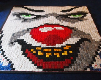 """Handmade PennyWise From """"IT"""" 74"""" x 80"""" Quilt"""