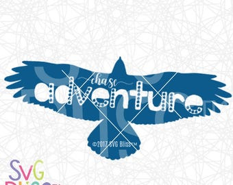 Chase Adventure SVG| Eagle SVG| Kids T-shirt design Cutting file for Cricut or Silhouette| Digital Download svg eps dxf png files